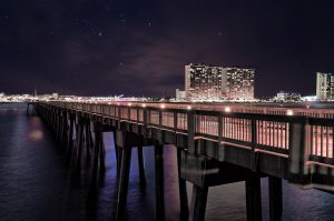 panama-city-beach-pier-stock